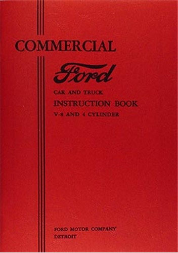 1933 Ford Pickup Truck & Sedan Delivery Reprint Owner's Manual