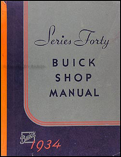 1934-1935 Buick Special Series 40 Shop Manual Original