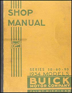 1934-1935 Buick Series 50-60-90 Shop Manual Original