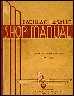 1934-1935 Cadillac & LaSalle Shop Manual Original
