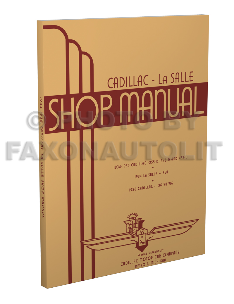 1934-1935 Cadillac & LaSalle Shop Manual Reprint