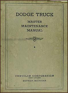 1934-1935 Dodge Truck Repair Shop Manual Original
