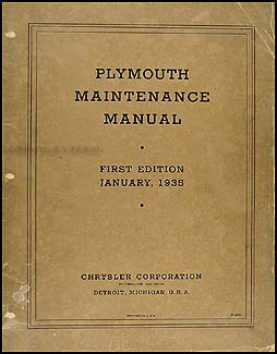 1934-1935 Plymouth Shop Manual Original