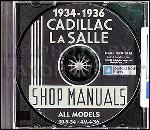 1934-1936 Cadillac & LaSalle CD-ROM Shop Manual