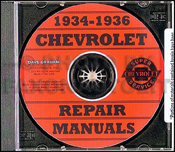 1934-1936 Chevy CD-ROM Shop Manual for all Car & Truck
