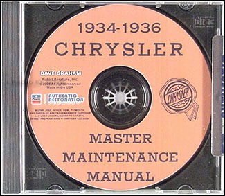 1934-1936 Chrysler Master Shop Manual CD-ROM