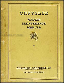 1934-1936 Chrysler Shop Manual Original