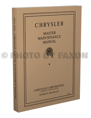 1934-1936 Chrysler Master Shop Manual Reprint