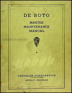 1934-1936 De Soto Original Master Shop Manual