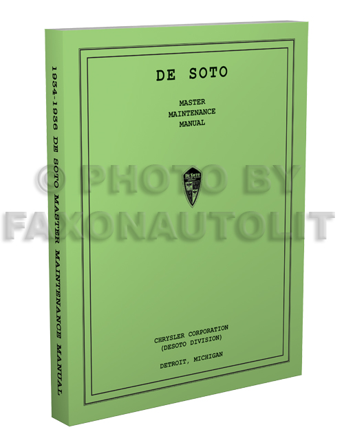 1934-1936 De Soto Master Shop Manual Reprint