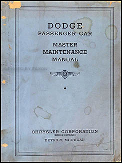 1934-1936 Dodge Car Shop Manual Original