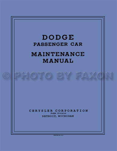 1934-1936 Dodge Car Shop Manual Reprint