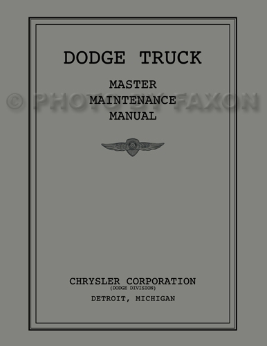 1934-1936 Dodge Pickup/Truck Shop Manual Reprint