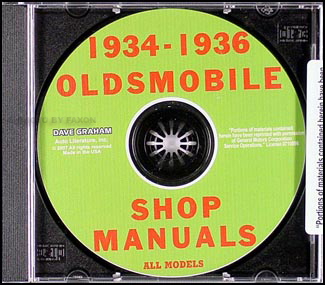 1934-1936 Oldsmobile CD-ROM Shop Manual