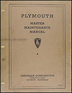 1934-1936 Plymouth Original Master Shop Manual