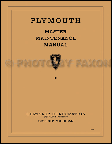 1934-1936 Plymouth Master Shop Manual Reprint