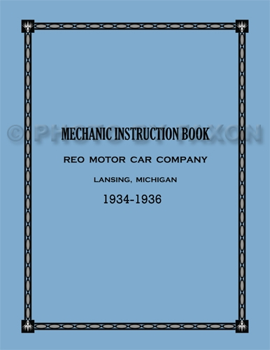 1934-1936 Reo Repair Manual Reprint