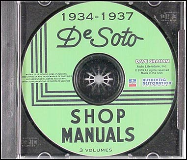 CD 1934-1937 De Soto Master Shop Manual