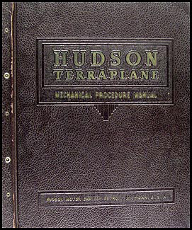 1934-1937 Hudson & Terraplane Shop Manual Original