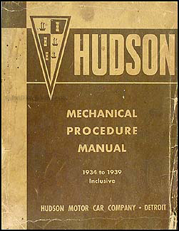 1934-1939 Hudson & Terraplane Shop Manual Original