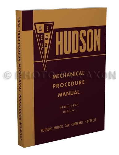 1934-1939 Hudson and Terraplane Shop Manual Reprint