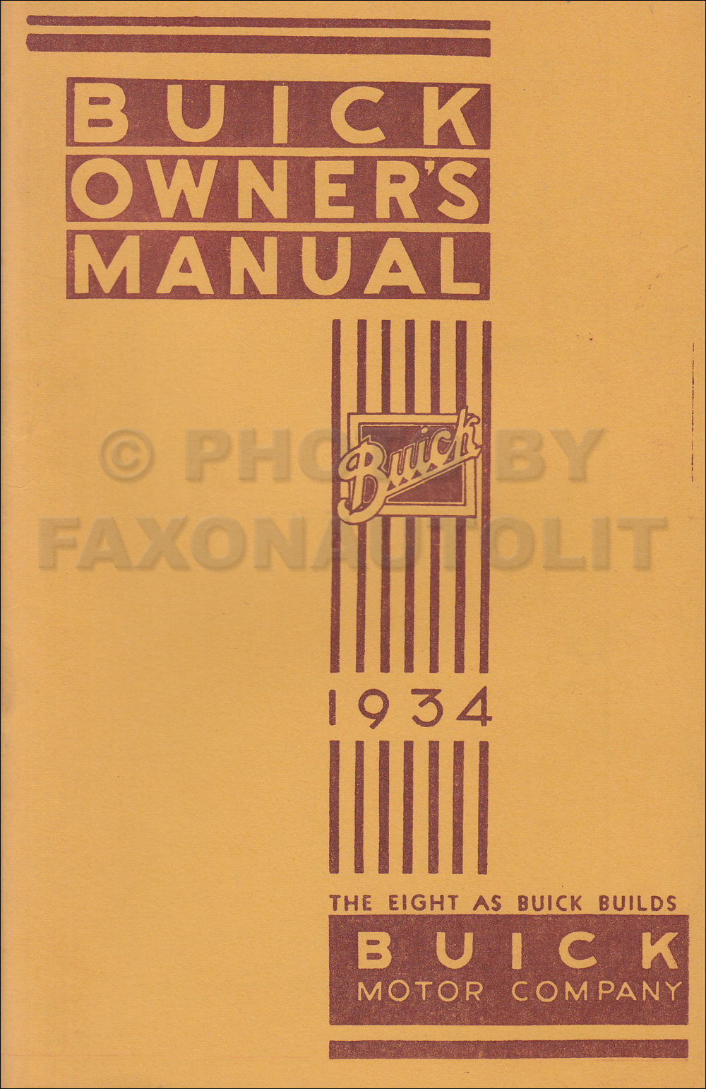 1934 Buick Owner's Manual Reprint