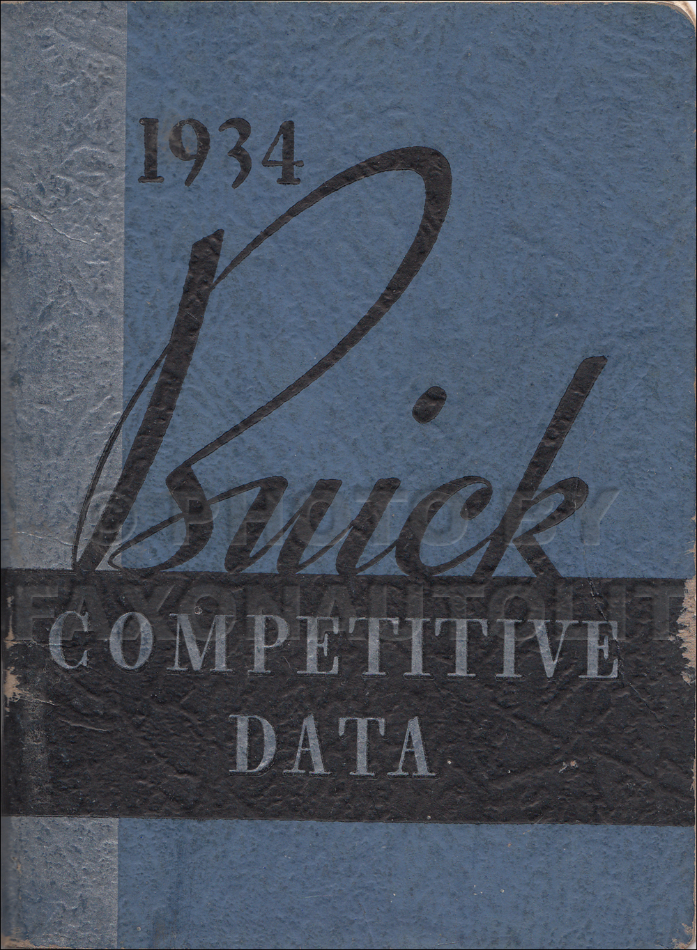 1934 Buick Competitive Comparison Dealer Album Original