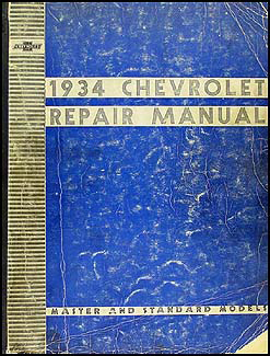 1934 Chevrolet Shop Manual Original Master & Standard Car & Truck