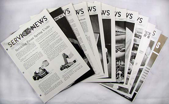 1934 Chevrolet Service News (12 issues) Reprint Manual Revisions