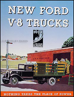 1934 Ford V8 Reprint Sales Catalog Truck Pickup Station Wagon Delivery