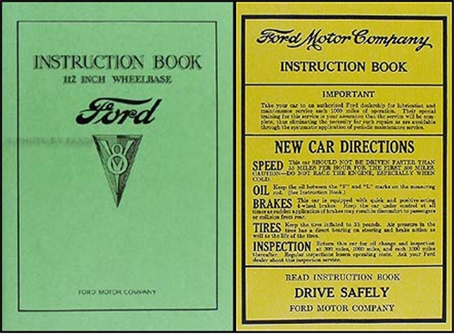 1934 Ford V8 Car & Pickup Owner's Manual Reprint