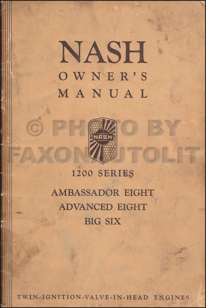 1934 Nash Owner's Manual Original