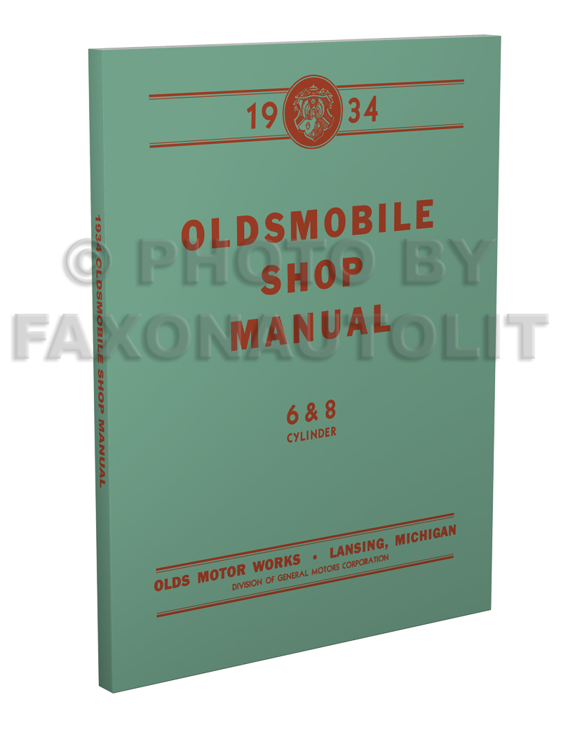 1934-1935 Oldsmobile Repair Manual Original