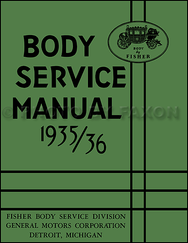 1935-1936 Pontiac Reprint Body Repair Manual