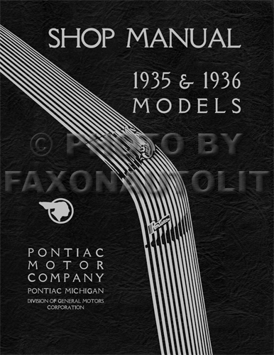 1935-1936 Pontiac Shop Manual Reprint