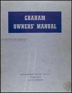 1935-1939 Graham Repair Manual Original
