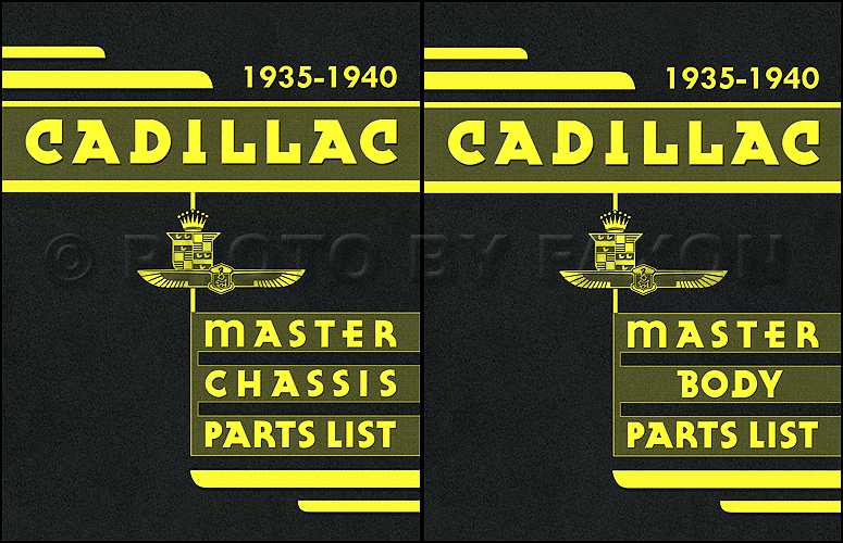 1935-1940 Cadillac Parts Book Reprint 2 Volume Set