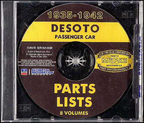 1935-1942 DeSoto CD-ROM Parts Books