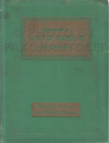 1935-1942 Motors Shop Manual for US Cars