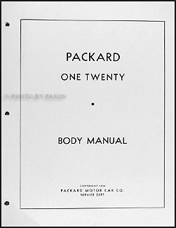 1935-1942 Packard 120 Body Repair Manual Reprint