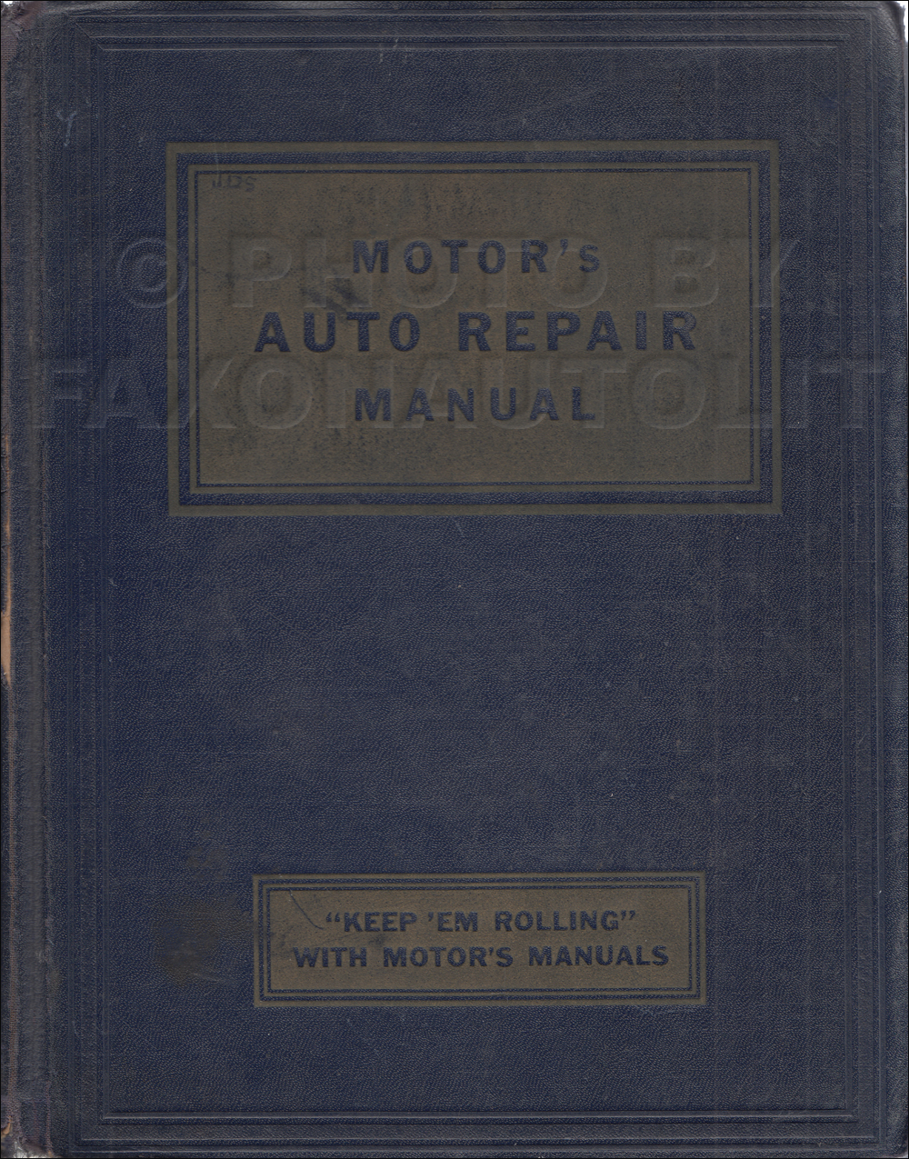 1935-1952 Motors 15th Edition Shop Manual