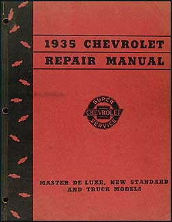 1935 Chevrolet Shop Manual Original