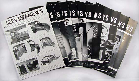 1935 Chevrolet Service News (12 issues) - 9 issues on 35, 3 issues 36