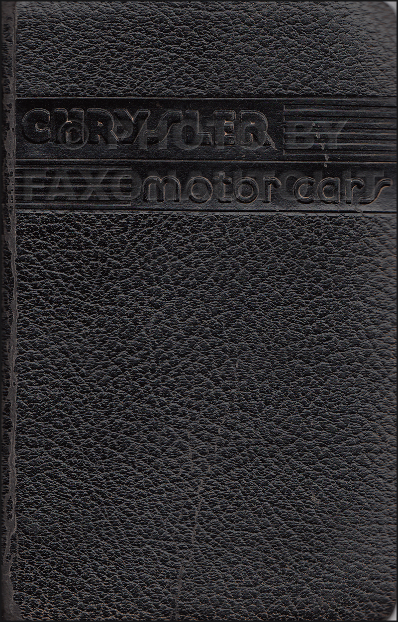 1935 Chrysler Data Book Original