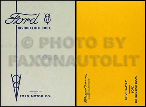 1935 Ford Car & Pickup Owner's Manual Reprint