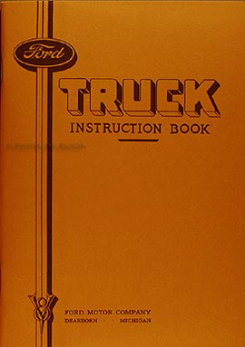 1935 Ford 1½-ton Truck Reprint Owner's Manual 1.5 ton