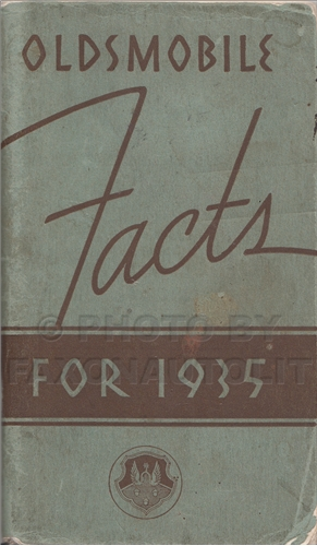 1935 Oldsmobile Facts Book Original