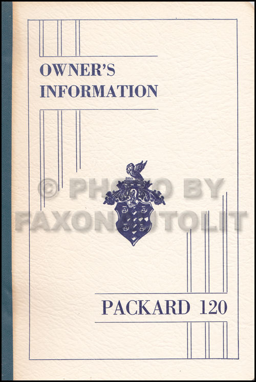 1935 Packard 120 Owner Manual Reprint