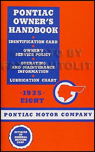 1935 Pontiac Eight Cylinder Owner's Manual Reprint  8