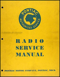 1935 Pontiac Radio Manual Original